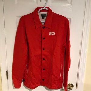 Men's Converse Red/Orange Coach Jacket Small